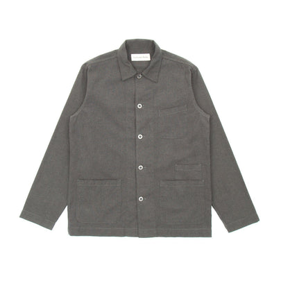 Universal Works Bakers Overshirt (Olive Heavy Oxford)2