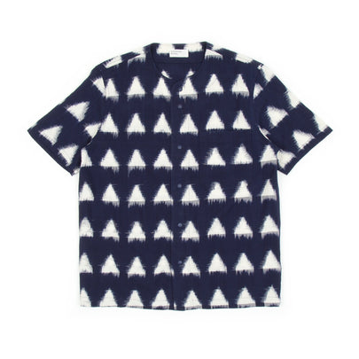 Universal Works Baseball Shirt (Ikat Arrow Navy)-1