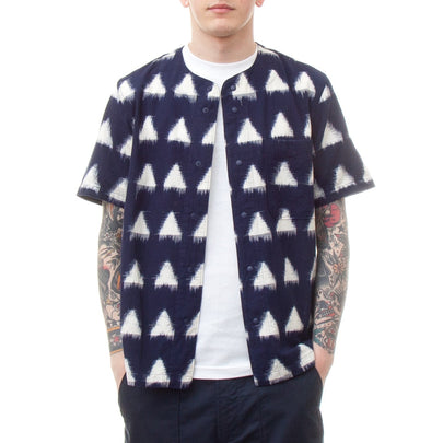 Universal Works Baseball Shirt (Ikat Arrow Navy)-4