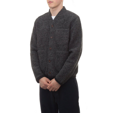 Universal Works Cardigan (Grey Wool Fleece)