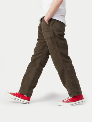 Universal Works Fatigue Pants (Moleskin Moss) 2