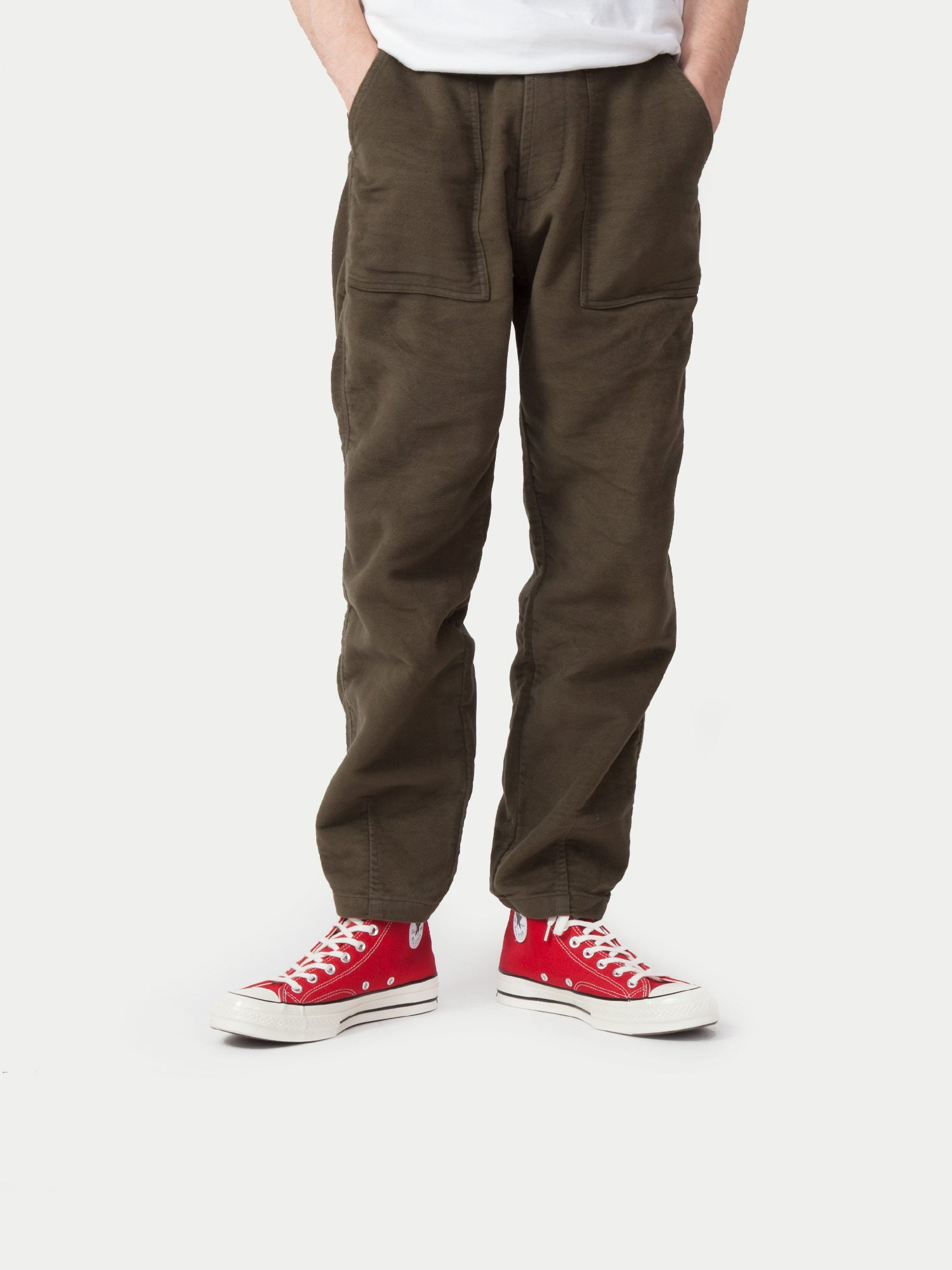 Universal Works Fatigue Pants (Moleskin Moss) 11