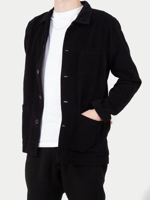 Universal Works Fine Cord Bakers Overshirt (Black) 11