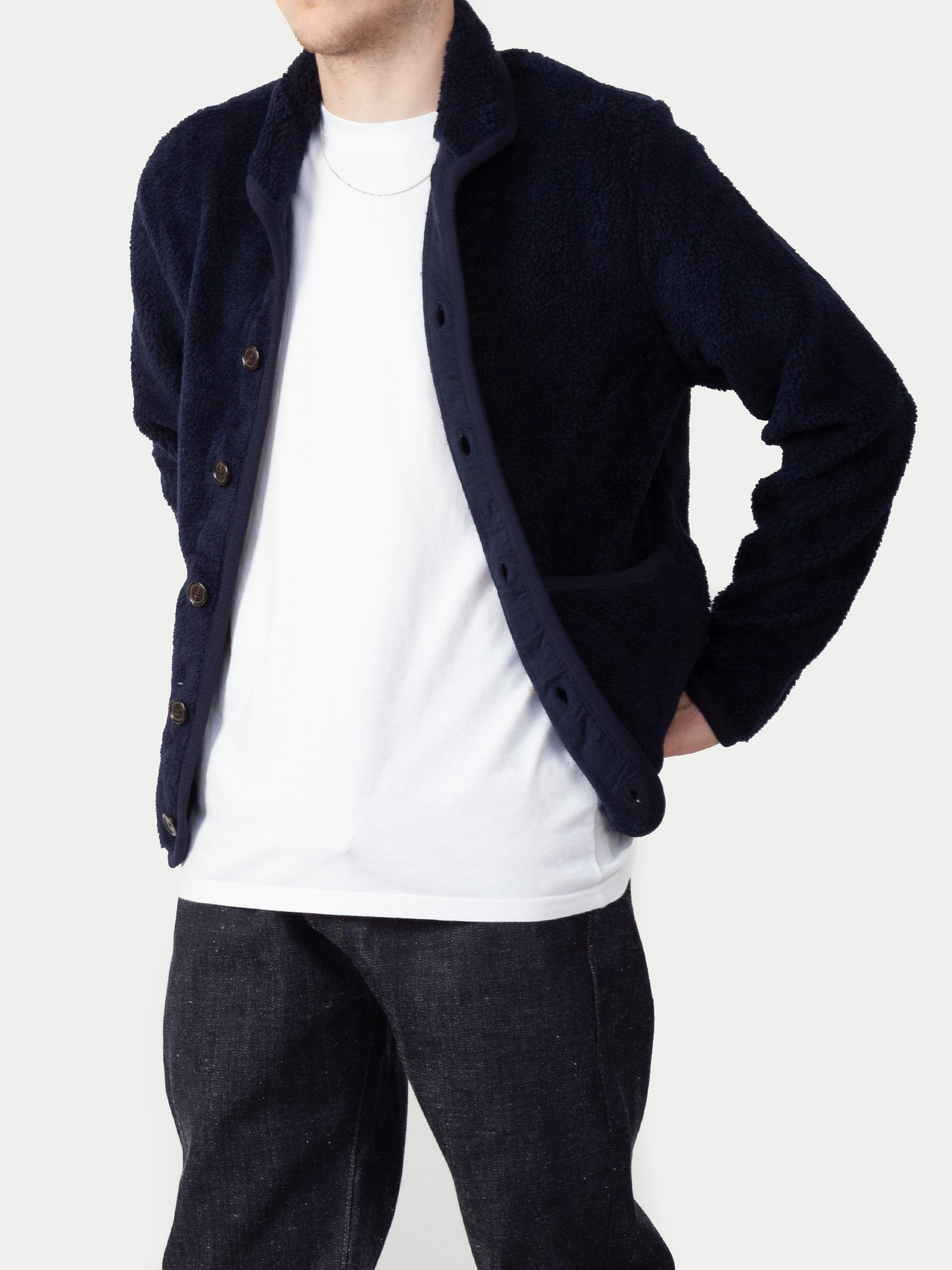 Universal Works Lancaster Jacket (Navy) 1