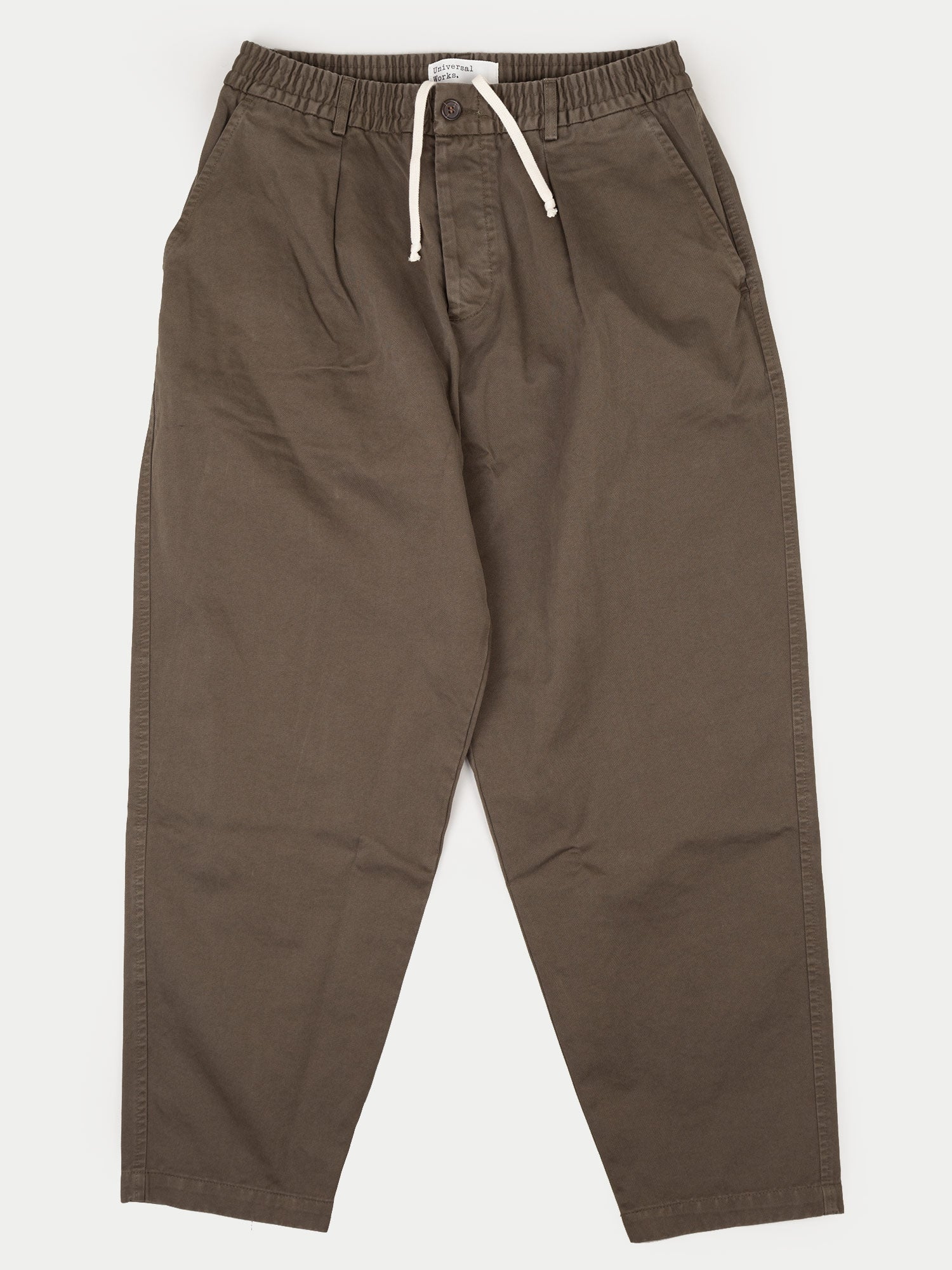 Universal Works Pleated Track Pant (Taka Cotton Olive)