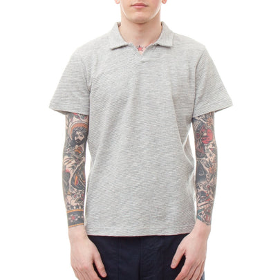 Universal Works Resort Shirt (Grey Marl)-4