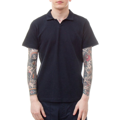 Universal Works Resort Shirt (Navy)-4