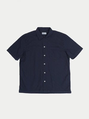 Universal Works Road Shirt (Navy Jacquard Cotton)