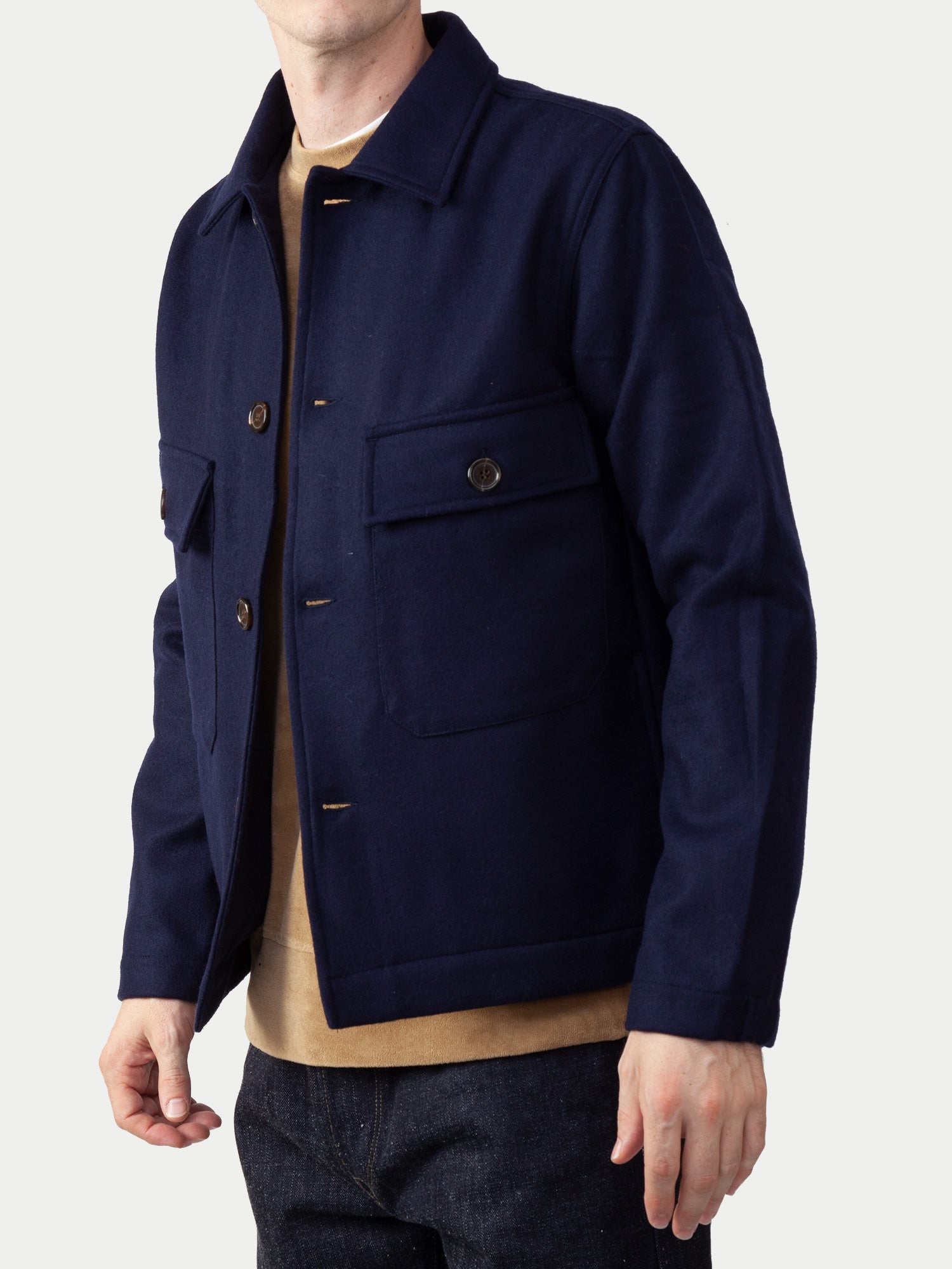 Universal Works Strummer Jacket (Melton Navy) 1