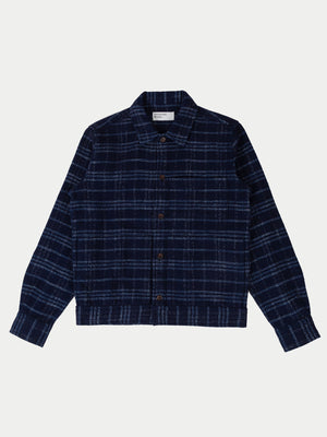 Universal Works Uniform Jacket (Indigo Check) 1