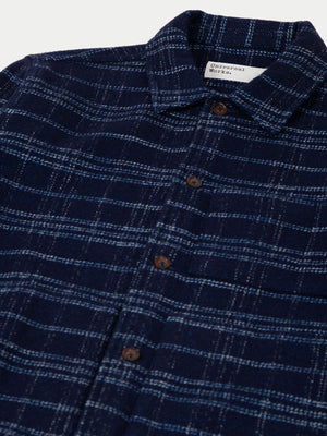 Universal Works Uniform Jacket (Indigo Check) 2