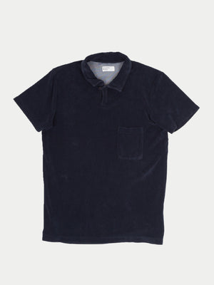 Universal Works Vacation Polo Shirt (Navy Waffle)