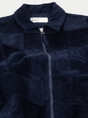 Universal Works Zip Uniform Jacket (Patchwork Cord Navy) 2