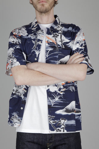 Universal Works Road Short Sleeved Shirt (Fuji Summer Print)