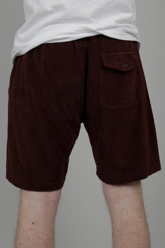 Universal Works Terry Fleece Beach Shorts (Raisin) Back