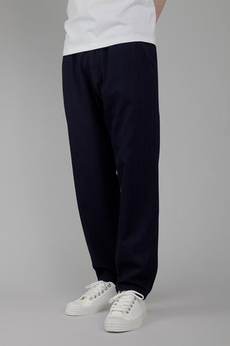 Universal Works Track Trousers (Indigo Herringbone Denim)