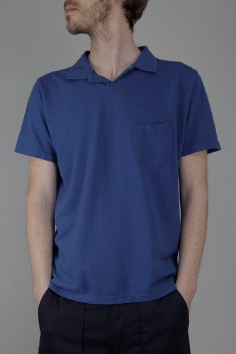 Universal Works Vacation Polo Shirt (Blue Piqué)
