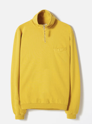Universal Works Zip Neck Sweatshirt (Sunshine)