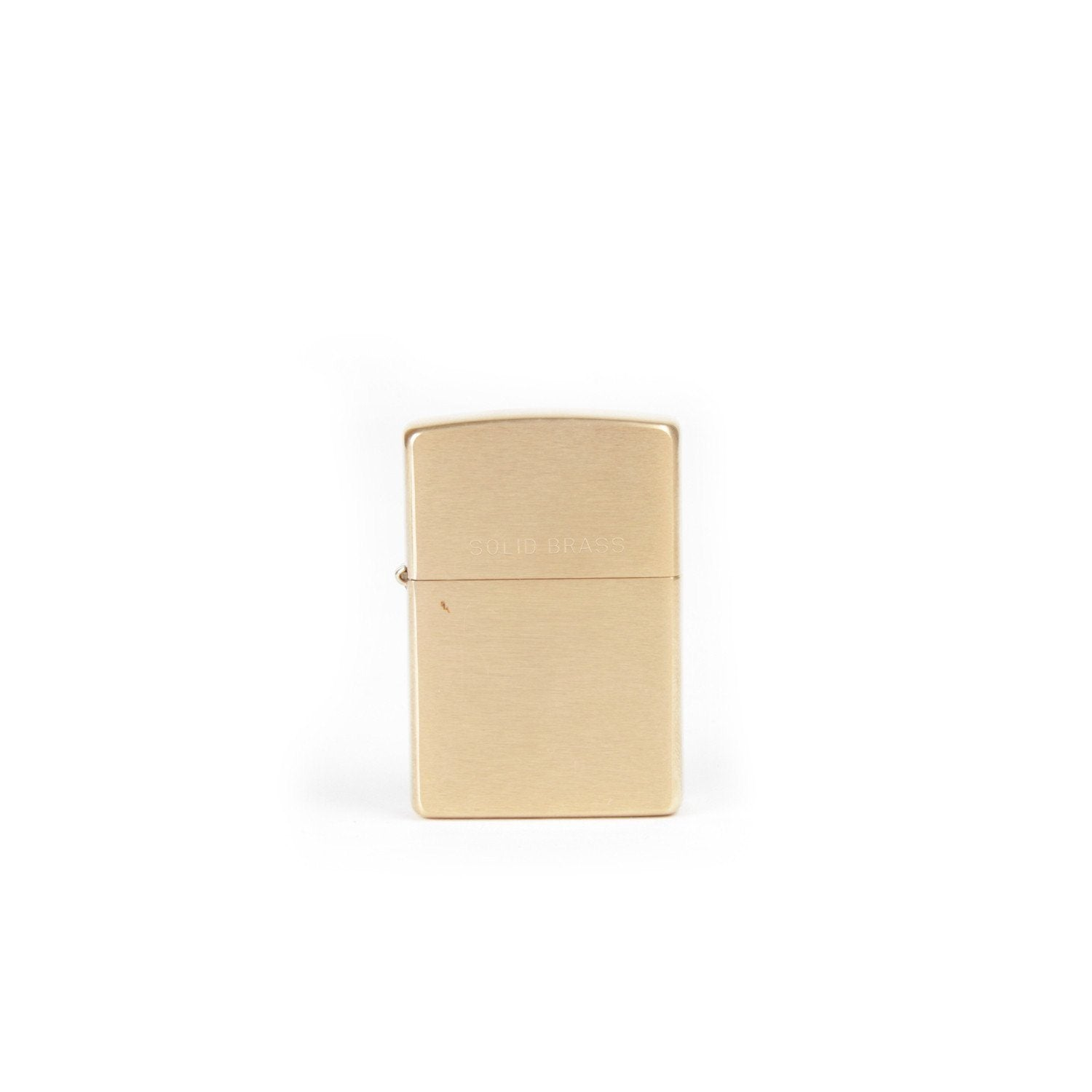 Zippo Classic Lighter (Brushed Brass)