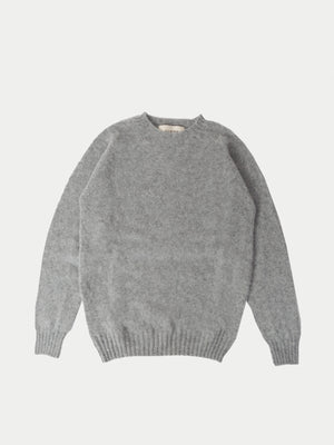 Sixes Supersoft Double Brushed Crew Neck (Silver) 2