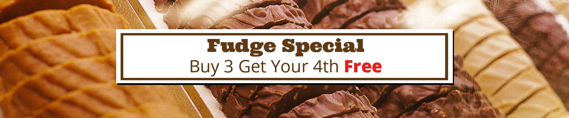 Buy 3 Pieces of Frankenmuth Fudge & Get Your 4th Free