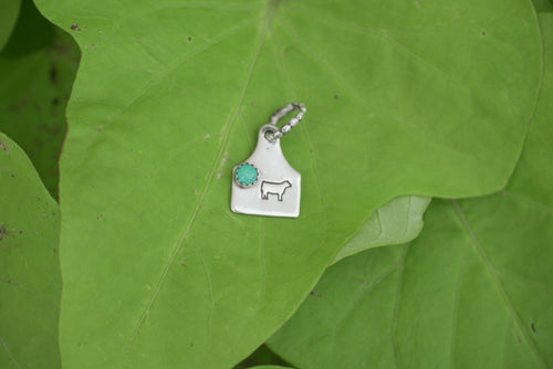 Turquoise & Show Calf Tag Charm