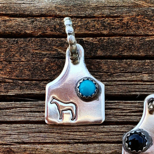 Turquoise & Quarter Horse Tag Charm