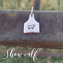 Copper Ear Tag Charm