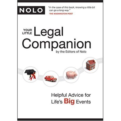 "Your Little Legal Companion: Helpful Advice for Life""s Big Events (Paperback)"
