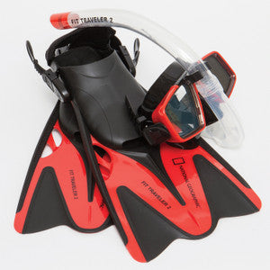 Natl Geographic Snorkeler Fit Traveler2 Combo (Red & Black)