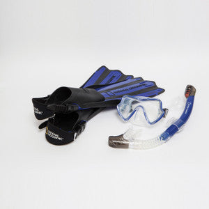 Natl Geographic VAYA Snorkel and Fin Set (Size and Color options available)