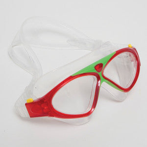 Nat Geo Kids Z6 Swim Mask-Clear Lenses (Sponge Red & Black)