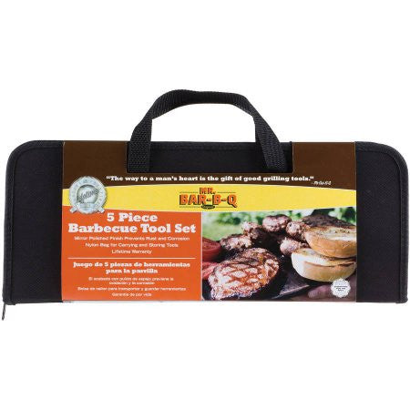 5 Piece BBQ Tool Set with Case