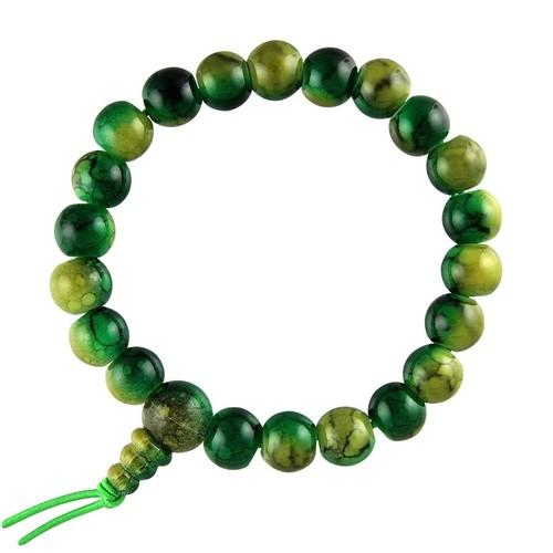 Unisex Green Acrylic Prayer Bracelet