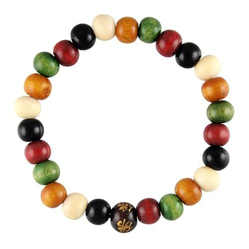 Unisex Multicolor Wood Prayer Bracelet