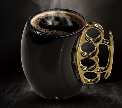 Brass Knuckles Handle Mug