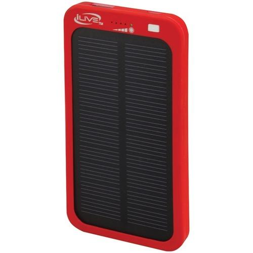 iLive WP6216R 2,100mAh Solar Charger for Mobile Devices
