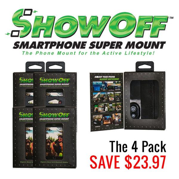 ShowOff Smartphone Super Mount - Capture Memories Completely Hands Free - No Selfie Stick!