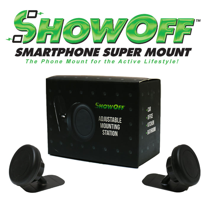 ShowOff Adjustable Mounting Station for Your Mobile Device - A Safer Way to Access Your Mobile Phone While Driving!