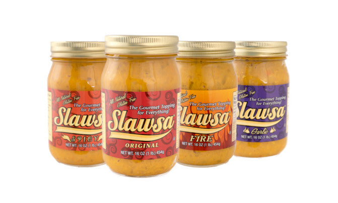 Special Sale! Slawsa Ultimate Mix 6-Pack! Includes: (2 Original, 2 Spicy, 1 Garlic and 1 Habanero Fire)