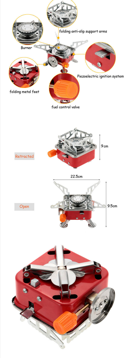 Portable Outdoor Butane Gas Stove