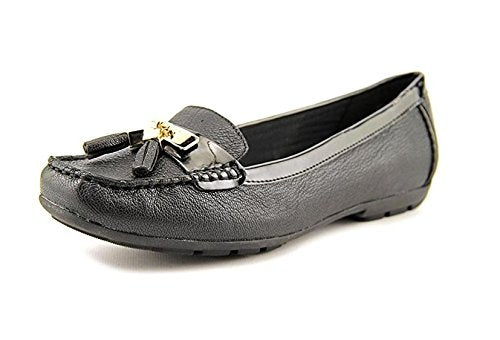 Anne Klein Oates Women Moc 10M Toe Leather Black Moccasins