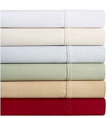 'Dover Collection 450T Combed Cotton Sateen King Sheet Set - Green'