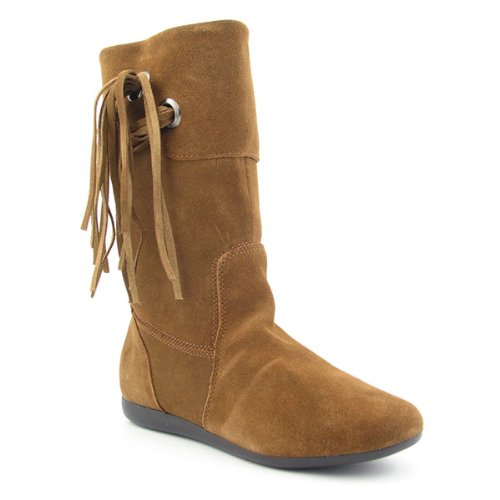 WHITE MOUNTAIN Filly Boots Calf Shoes Brown Womens (9, Hazel)