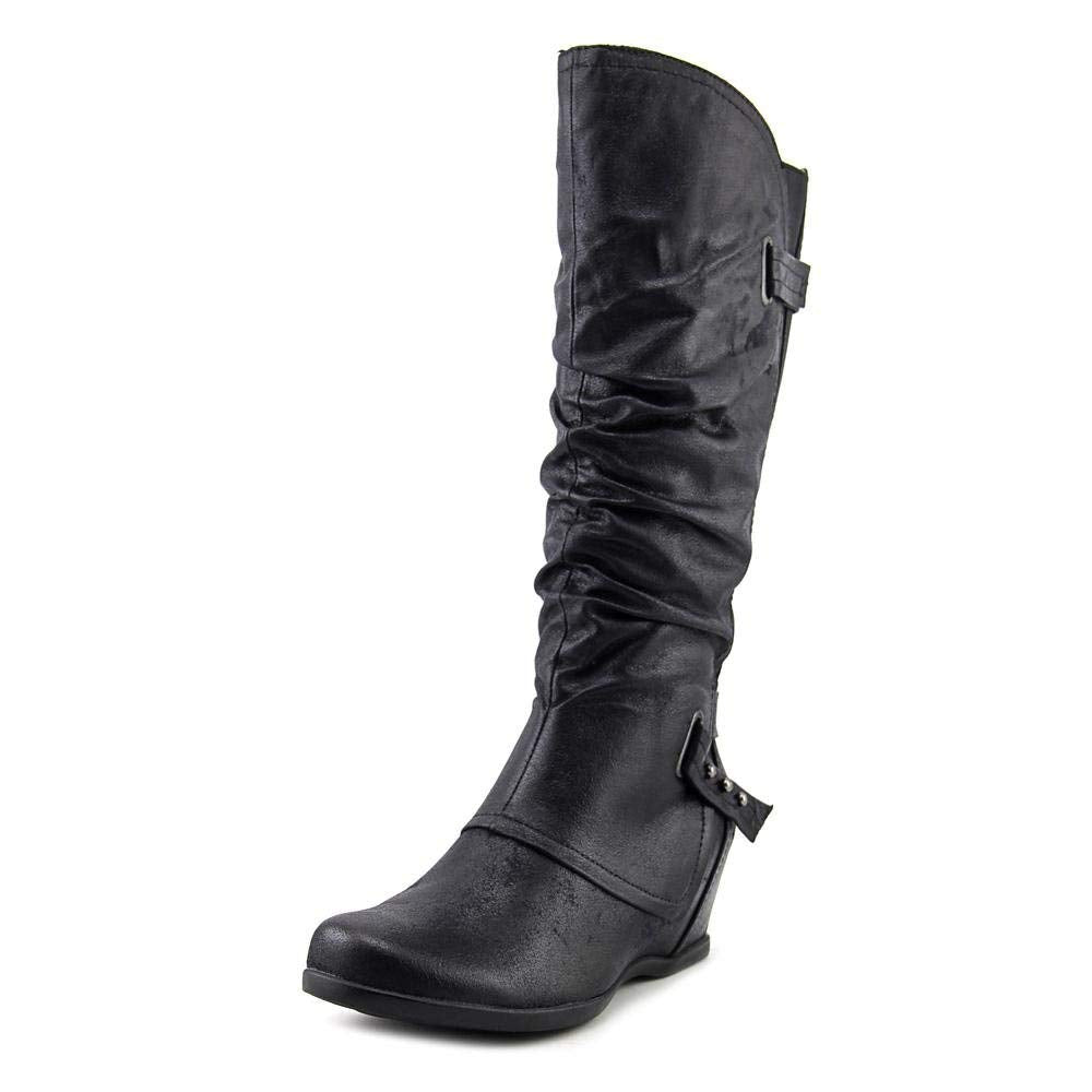 BareTraps Womens Quivina Closed Toe Mid-Calf Fashion Boots, Black, Size 5.5