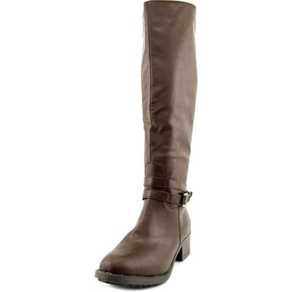 Rampage Womens Imelda Leather Round Toe Knee High Riding Boots, Brown, Size 9.0