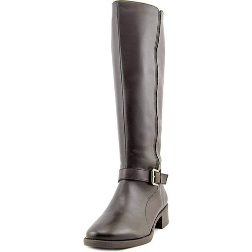 Easy Spirit Womens Nadette Leather Round Toe Mid-Calf, Dark Brown, Size 7.0
