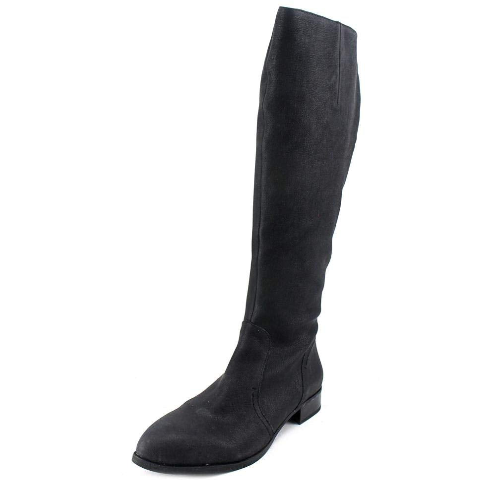 Nine West Womens Nicolah Knee High Leather Fashion Boots, Black, Size 6.5