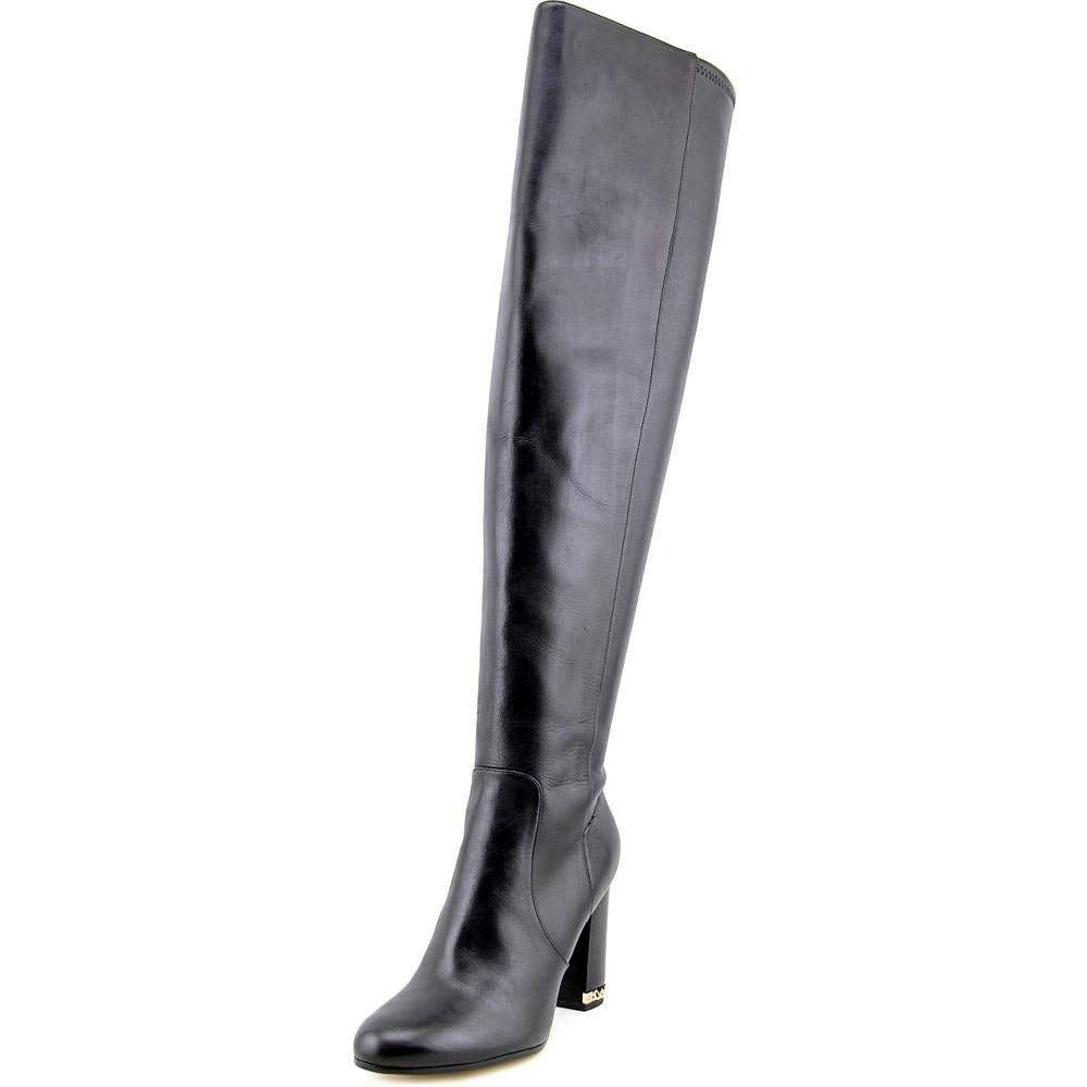 Michael Michael Kors Womens Sabrina Boot Leather Closed Toe Over Knee Fashion.