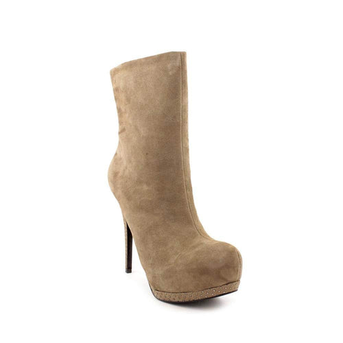 Guess Womens Pilina Studded Taupe Ankle Boot Suede Leather Bootie Shoe